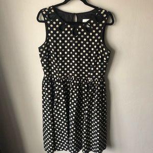 kate spade polka dot cut out dress